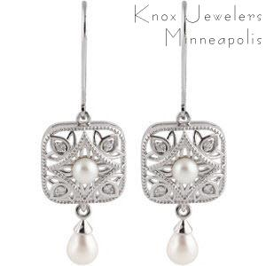 Image for Deco Pearl Earrings