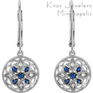 Image for Edwardian Sapphire Dangles