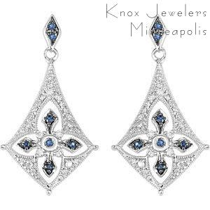 Edwardian Sapphire Drops - Earrings