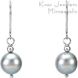 Silver Pearl Dangles - Earrings
