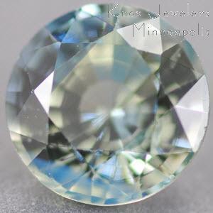 Sapphire Round 1.12 carat Green Photo
