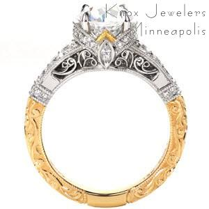 Two-tone filigree engagement rings in Oklahoma City, Oklahoma