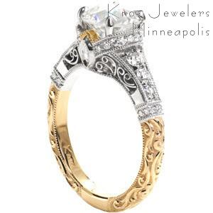 Filigree And Hand Engraved Custom Engagement Rings In Chicago