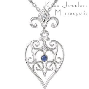Fleur de Lis Heart - Best Selling Gifts