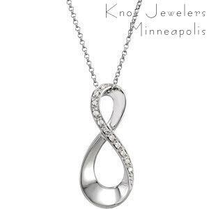 Diamond Infinity Pendant - Pendants