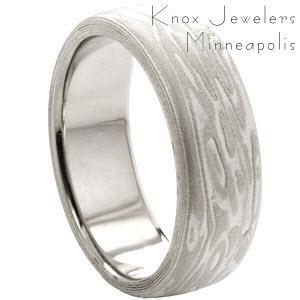 Mokume gane wedding ring
