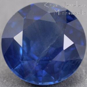 Sapphire Round 0.97 carat Blue Photo