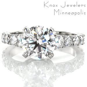 Knox Jeweler's Brittany Lennea custom designed ring.