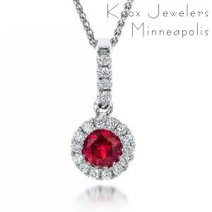 Ruby Halo Pendant - Unique Gifts