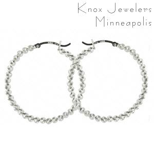 Shimmer Bead Hoops - Gifts Under $200
