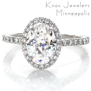 Diamond micropave engagement rings in Pittsburgh