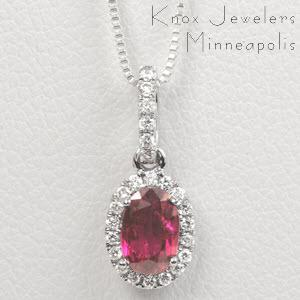 Oval Ruby Halo - New Gifts