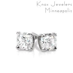 Image for Cushion Cut Diamond Studs