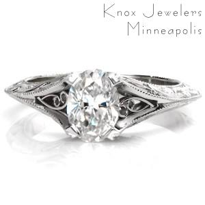 Design 3394 - Hand Engraved Engagement Rings