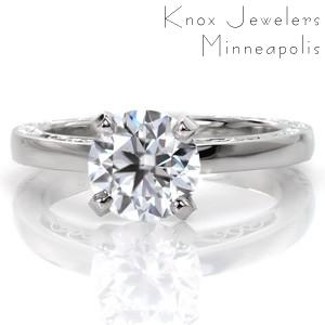 Design 3396 - Hand Engraved Engagement Rings