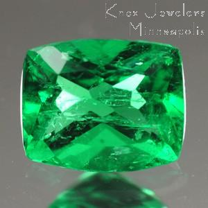 Emerald Cushion 0.53 carat Green Photo