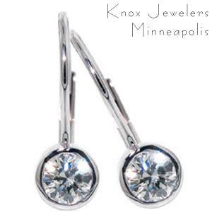 .43 ct tw Lever Backs - Earrings