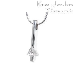 Trillion Diamond Drop - Pendants