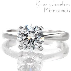 A classic solitaire setting by Knox Jewelers.