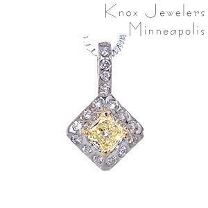 Fancy Light Yellow Diamond Pendant - Pendants